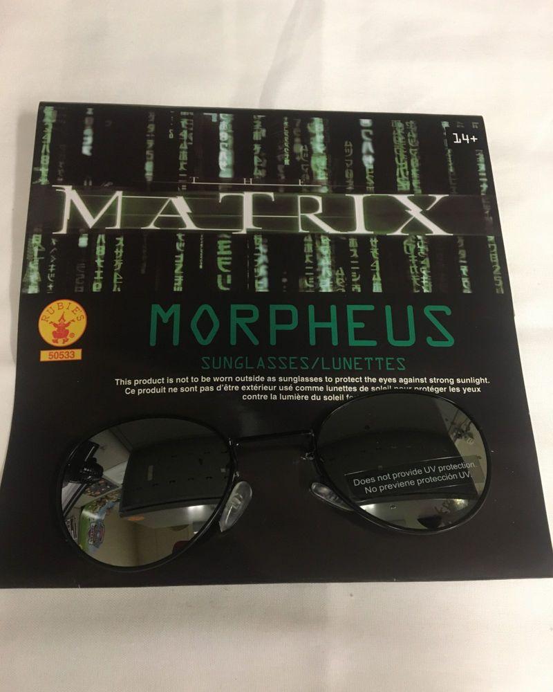 4b87c831a0 Matrix Morpheus Costume Accessory Glasses Sunglasses With Defects ...