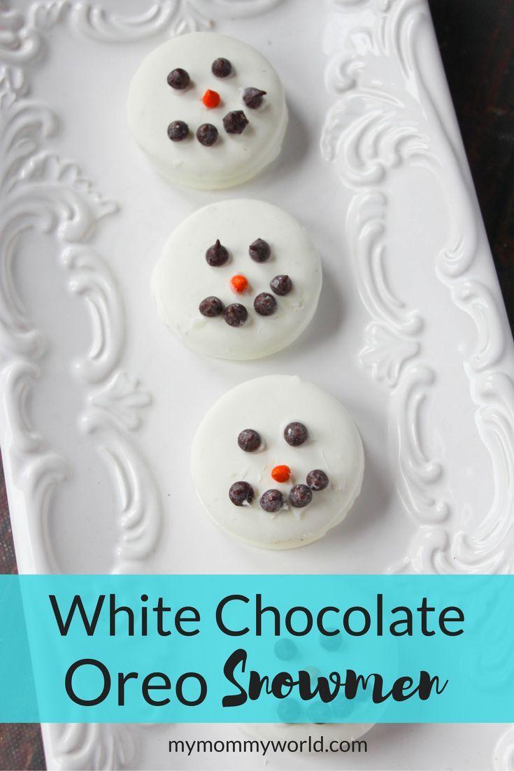 White Chocolate Oreo Snowmen