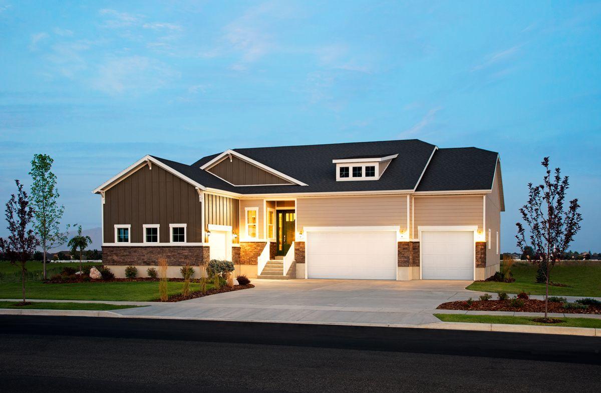 Delaney model home with 3-car garage   Layton, Utah ...