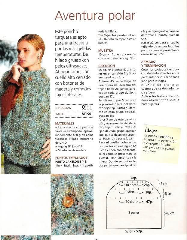 PATRON PARA HACER UN PONCHO | Poncho | Pinterest | Croché, Ganchillo ...