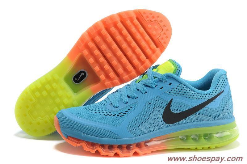 hot sale online 243fb 85181 Blue Orange Black Shoes 621077-404 Mens Nike Air Max 2014 Sale Online