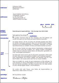 Toms Deutschseite Schreiben Formeller Brief Brief