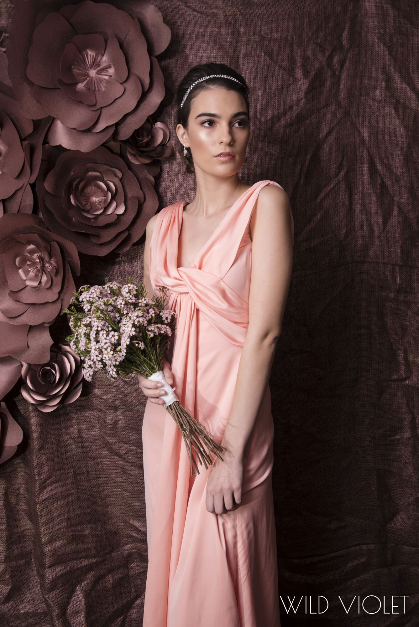 EMMA //stunning flowing bridesmaid dress with beautiful draped ...