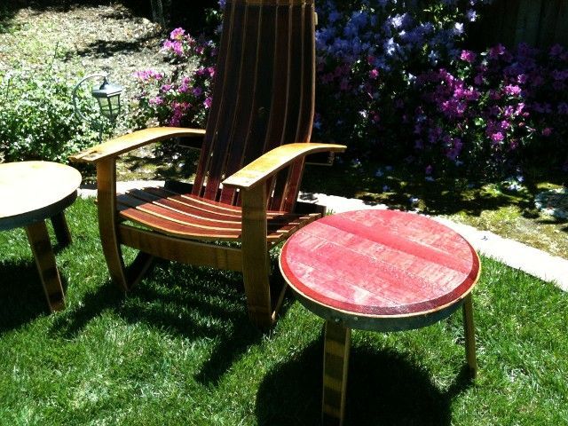 Sedie Adirondack ~ Wine barrel products patio furniture adirondack chair patio