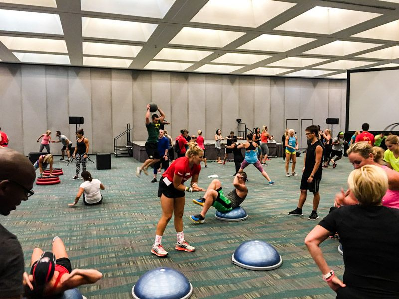 Todd Durkin workout at 2016 IDEA BlogFest by A Lady Goes West