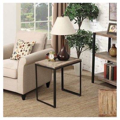 Wyoming End Table - Canyon Red / Black Matte - Convenience Concepts