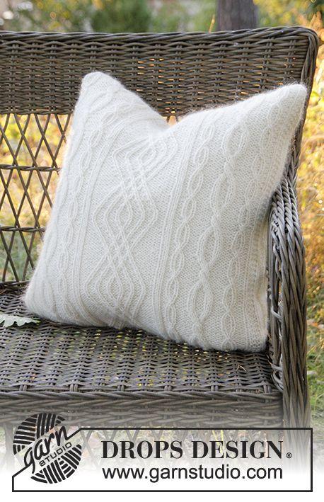 Irish Winter Pillow / DROPS Extra 0-1316 - Funda para cojín DROPS ...