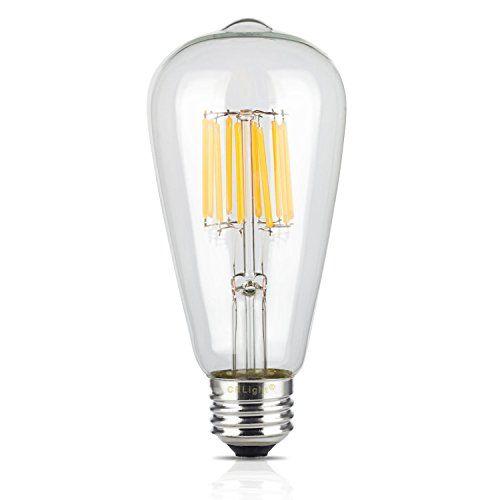 Crlight 10w Edison Style Vintage Led Filament Light Bulb 2700k Warm White 1000lm E26 Medium Base Lamp S Filament Bulb Lighting Filament Bulb Edison Light Bulbs
