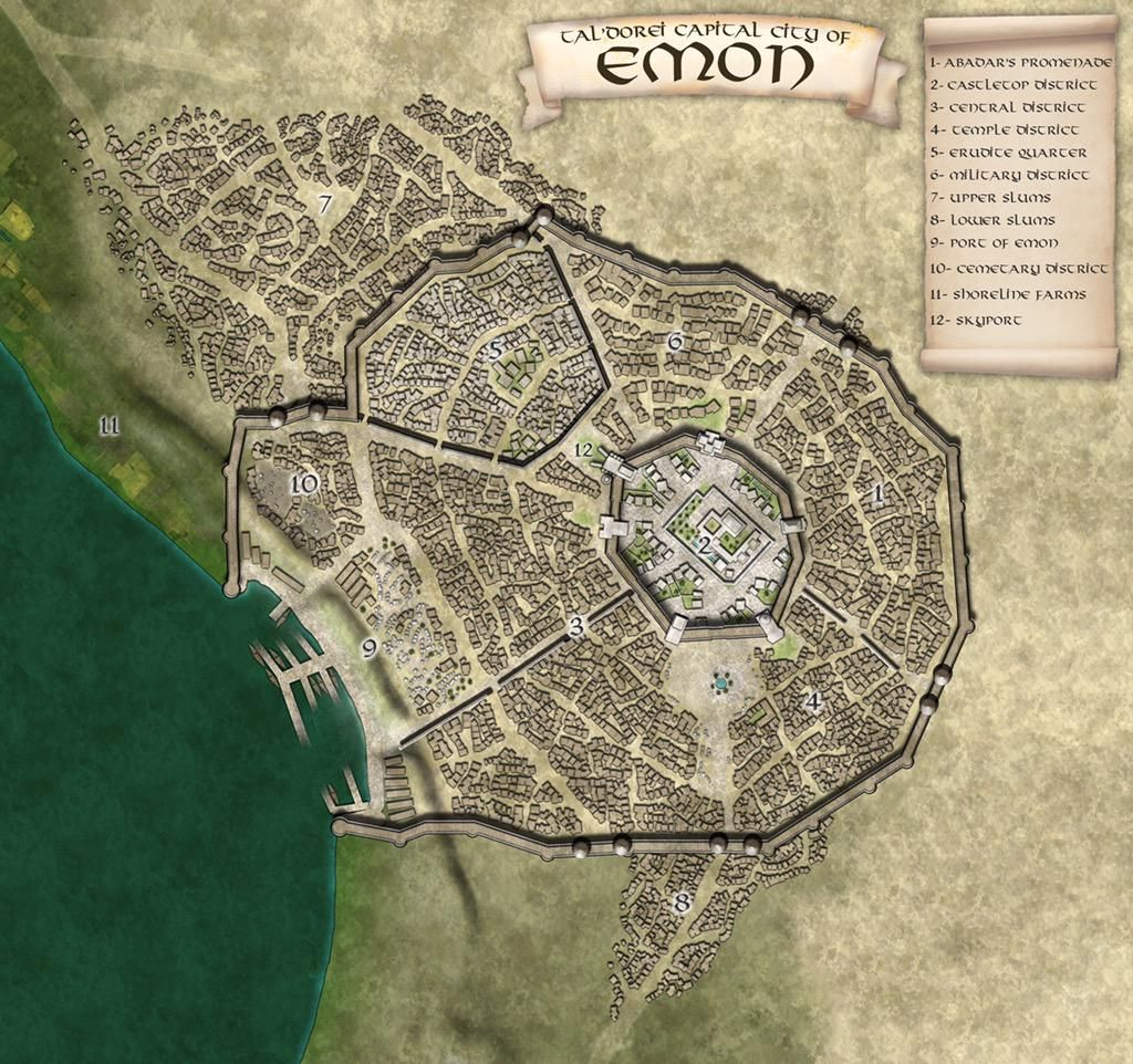Emon Dd Resources Fantasy City Map Dungeon Maps Imaginary Maps