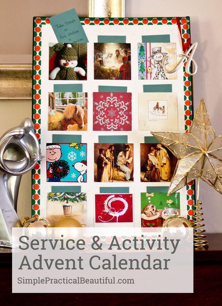 A Service  Activity Advent Calendar Christmas service, Advent
