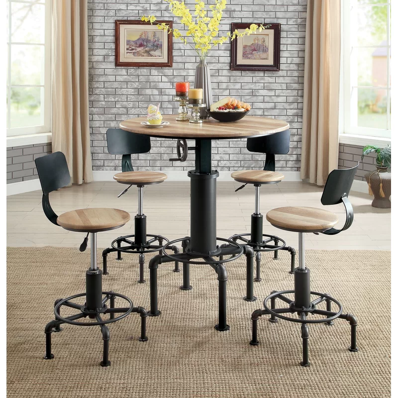 Melvina Adjustable Pub Dining Table Pub Table Sets High Top Tables Bar Table