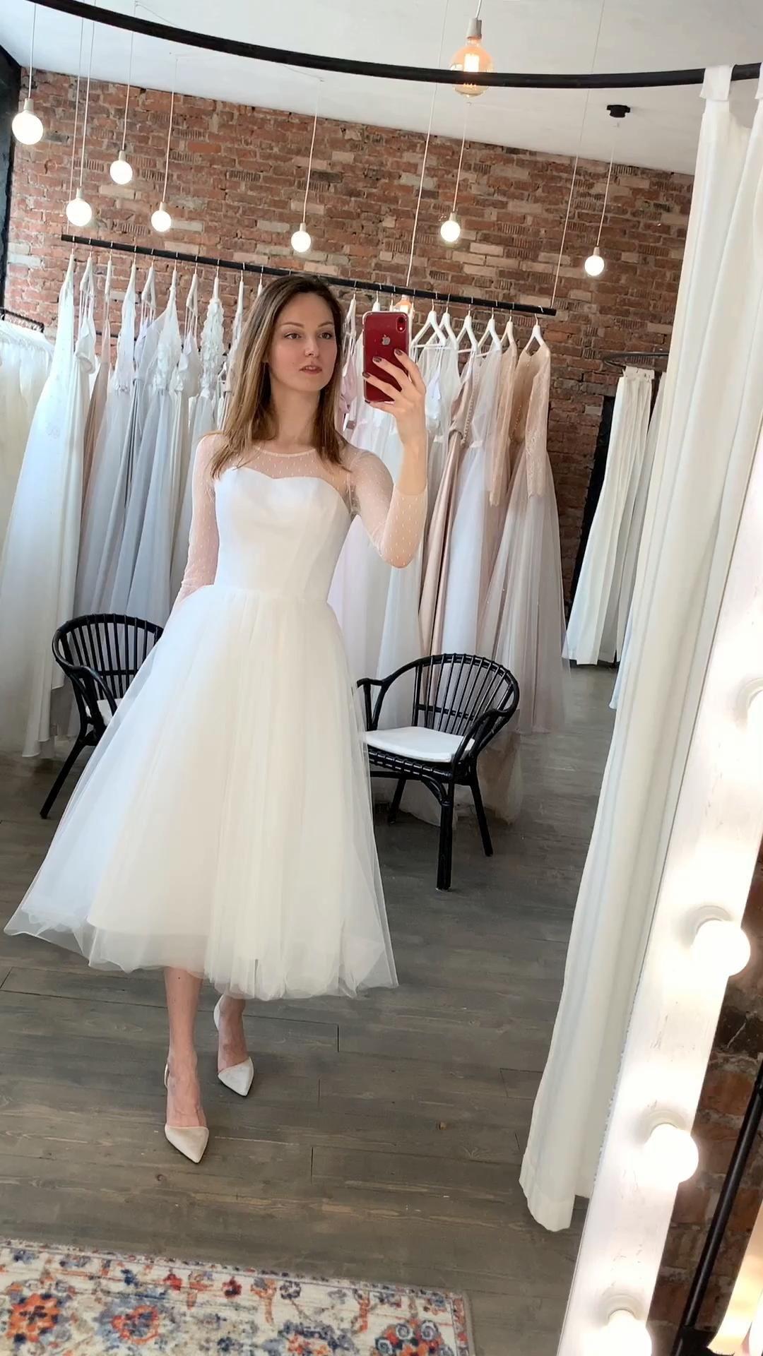 Tea Length Wedding Dress 60s Wedding Dress Simple Wedding Etsy Video Video Short Wedding Dress Wedding Dresses 60s Tea Length Wedding Dress [ 1920 x 1080 Pixel ]