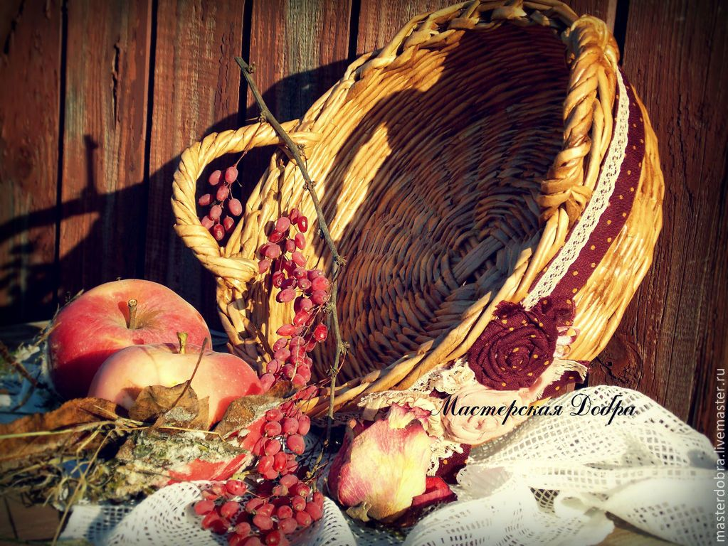 "Корзина плетеная, конфетница ""Барбара"" - бежевый, плетеные корзины, хлебница, конфетница, плетеная хлебница"