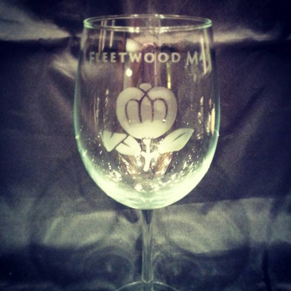#Handmade Fleetwood Mac Etched #Wine Glass. Glass is approximately 19 oz and top…