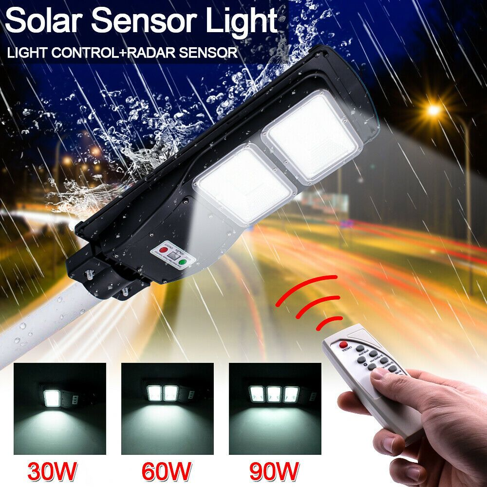 60w Led Solar Power Outdoor Wall Street Light Pir Motion Sensor Lamp Remote In 2020 Solar Powered Street Lights Outdoor Lamp Solar