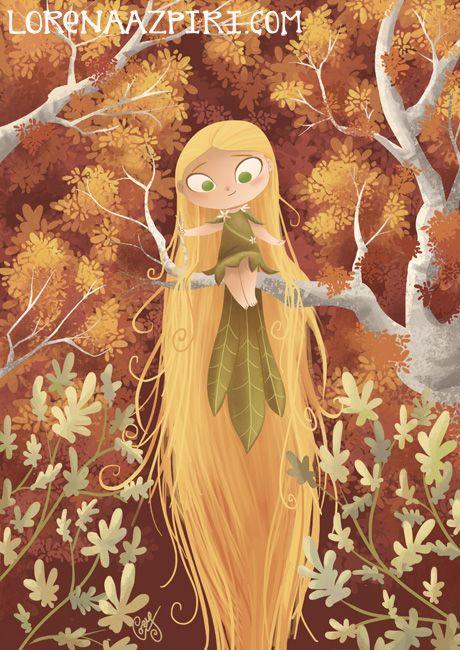 Ilustración infantil, por Lorena Azpiri en fantasía |  Dibujando.net  #temática-general #fantasía #caricatura #alternativo #digital #pintura-color #ilustración-infantil