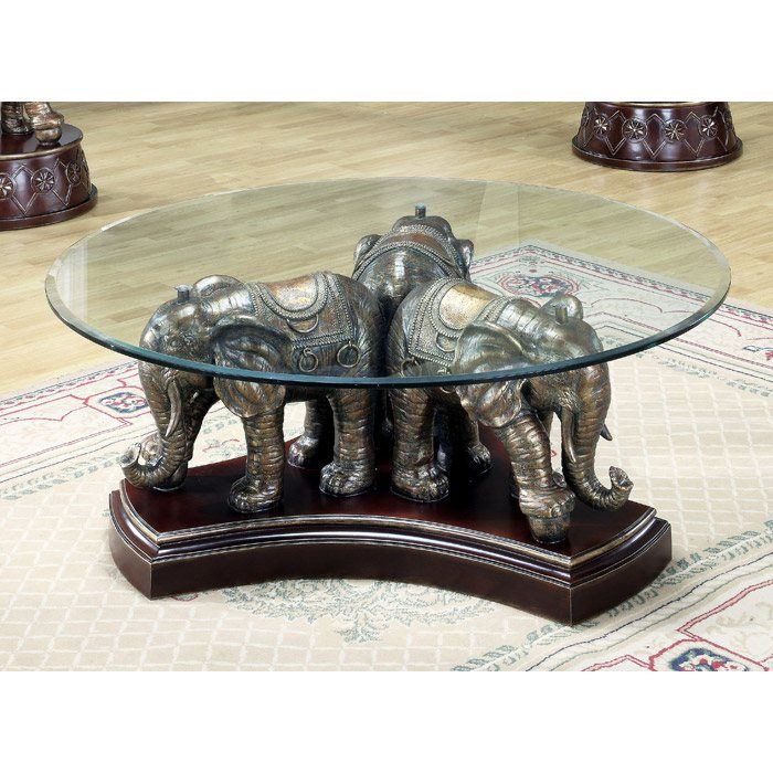 elephant sculpture cocktail table