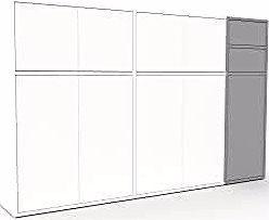 Sideboard white – sideboard: drawers in gray & doors in white …