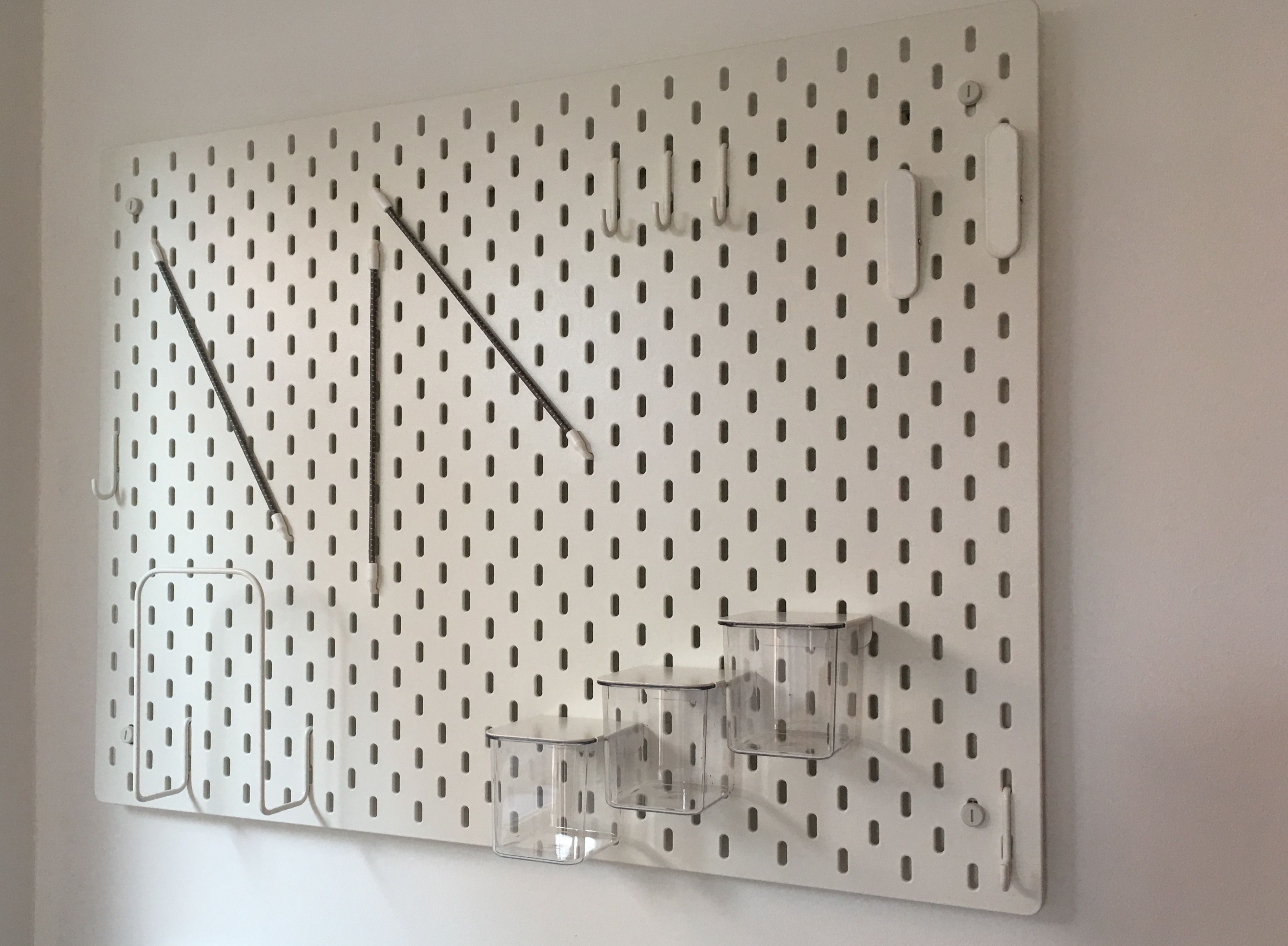 Ikea Skadis pegboard - this is amazing! Will definitely be going ...