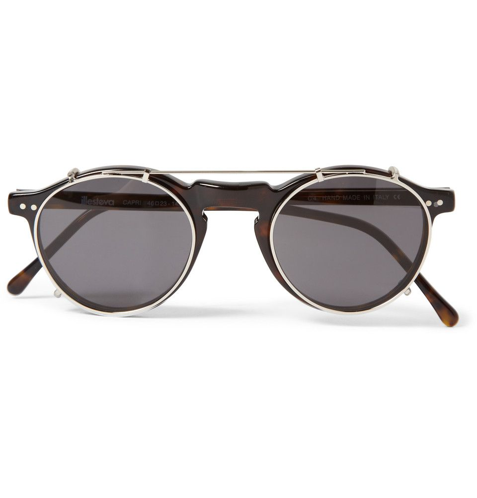 Illesteva - Capri Detachable-Front Round-Framed Acetate Glasses   MR PORTER add6fd2b84