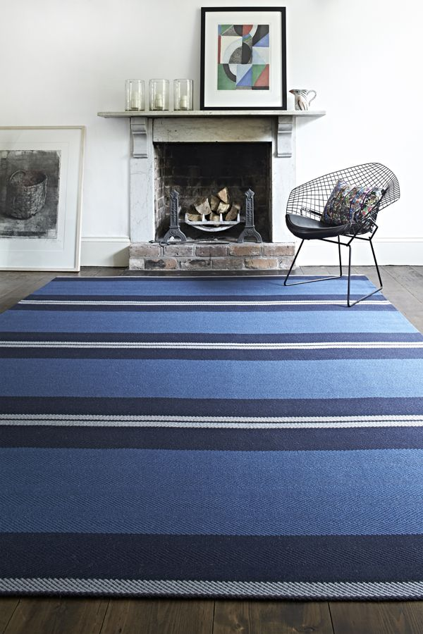 Roger Oates Franklin Indigo - seamed to create a rug