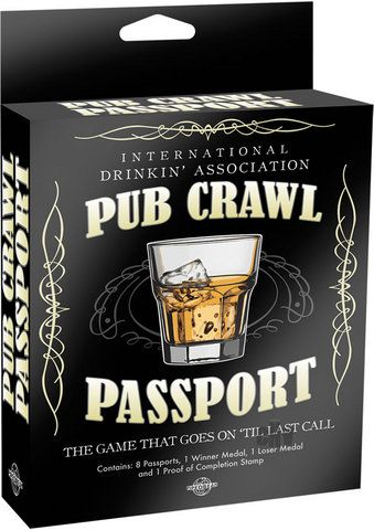 2bc6f86a Pub Crawl Passport 8 Passports - A pub crawl is classically defined as the  act of one or more people drinking in multiple pubs or bars in a single  night, ...