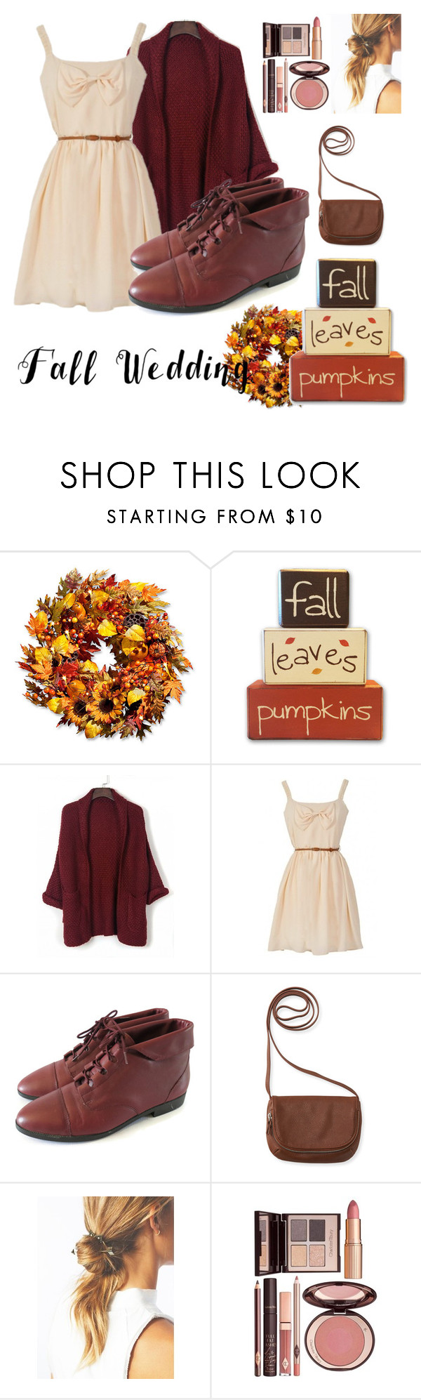 """""""Cozy"""" by francenefashion ❤ liked on Polyvore featuring Improvements, Aéropostale, Charlotte Tilbury and fallwedding"""