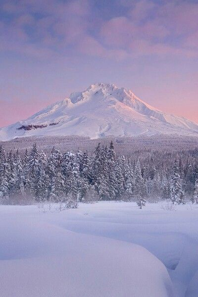 Snow covered mountain - spectacular sunrise! #snow #winter ...