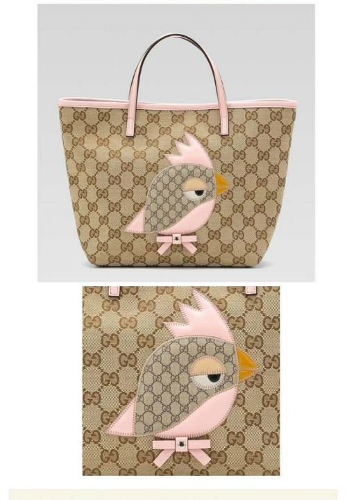 Children s Gucci Zoo Handbag Gucci kids Bird Zoo tote Handbag 6fe5d694b8014