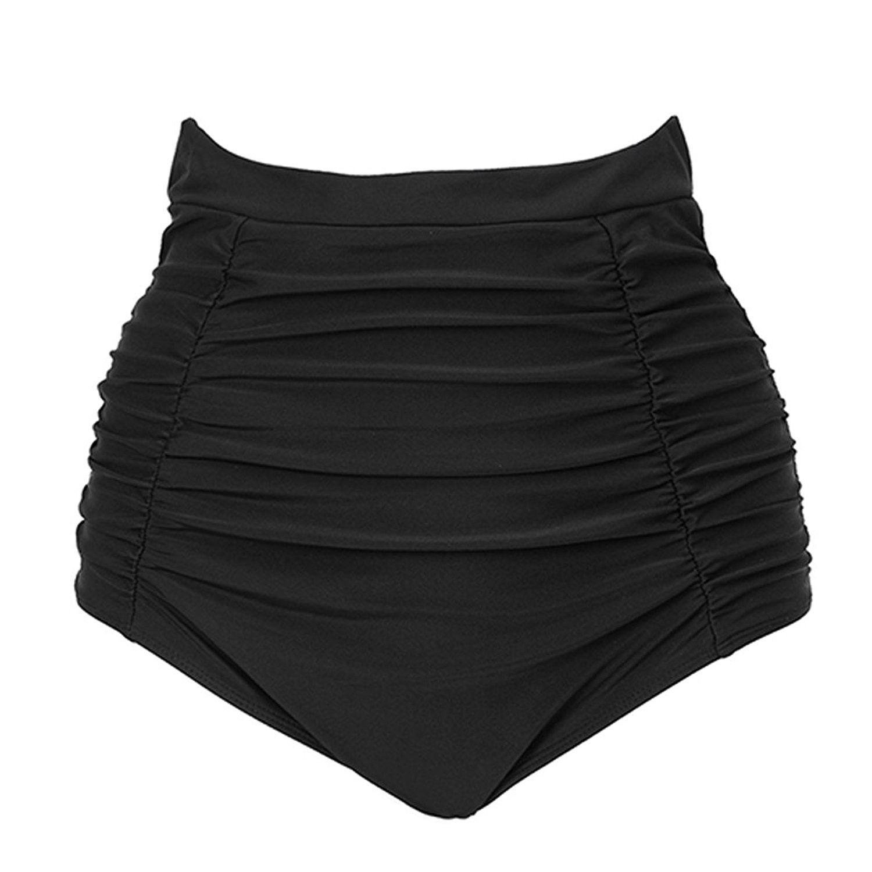 660abc936efac Papaya Wear Women s Skirted Bikini Swim Bottom Solid Swimwear Skirt Black  3XL. Women s Skirted Bikini Swim Bottom Solid Water Board Short Skirt.