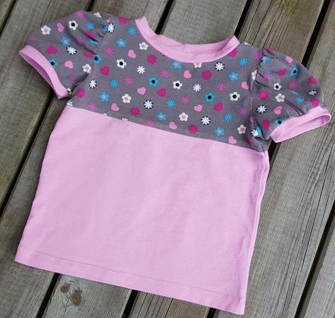 freebook erweiterung: puffärmel und kurzarm   kinderkleidung, kinder kleidung, freebooks