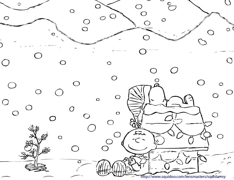 Charlie Brown Christmas Coloring Pages Printable | Charlie Brown ...