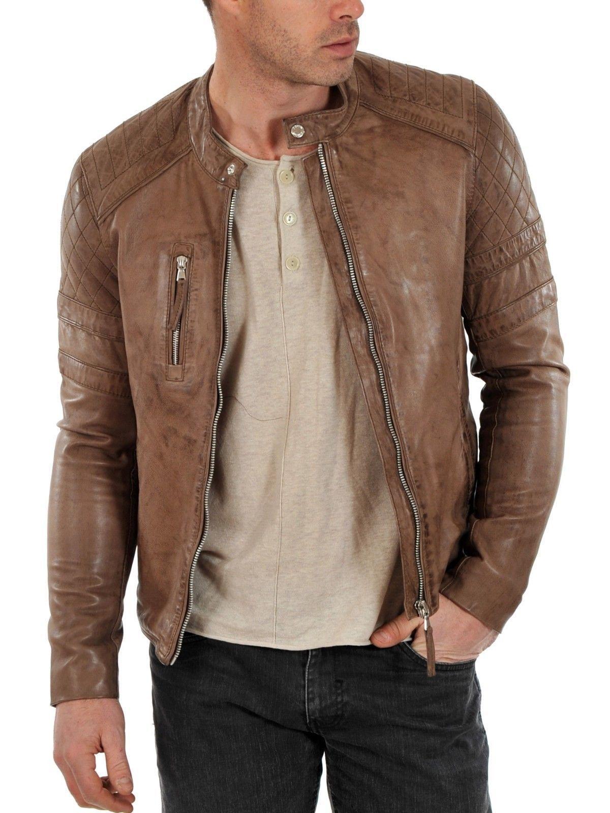 New Handmade Long Bomber Stylish Leather Jacket Uniqueleatherjacket Bomberstyleleatherjacket Graylel Leather Jacket Leather Jacket Style Fitted Biker Jacket [ 1600 x 1200 Pixel ]