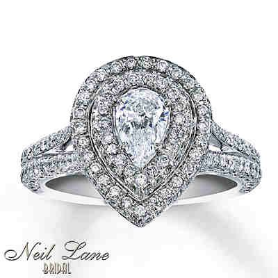 Neil Lane 1 3 4 Pear Shaped Diamond Engagement Ring My Dream Ring Jared Engagement Rings Neil Lane Engagement Rings Wedding Rings Teardrop