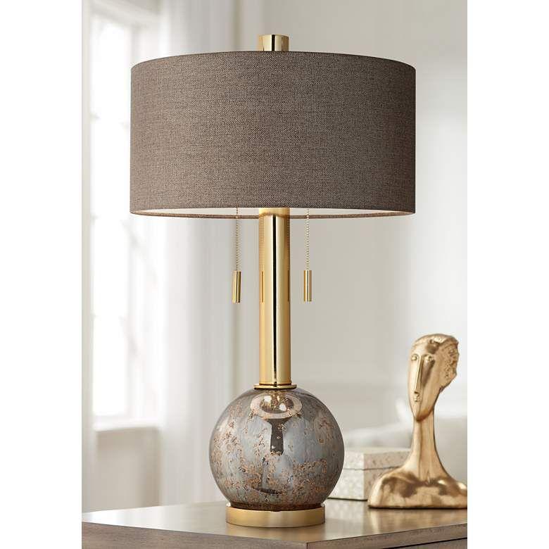 Empress Warm Gold Antique Mercury Glass Table Lamp 1h373 Lamps Plus Mercury Glass Table Lamp Table Lamp Lamps Plus