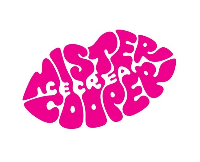 Mr Cooper Ice Cream For Grown Ups Branding Logo Design Love