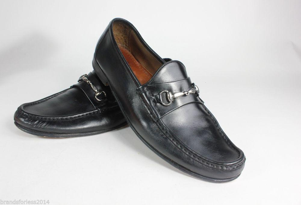 a6de224edc8 ALLEN EDMONDS MEN S VERONA II BIT LOAFER BLACK CALF SILVER 13 D  350   AllenEdmonds  LoafersSlipOns