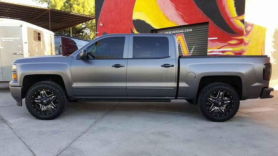 Chevy Silverado Z71 Vinyl Wrapped 3m Satin Dark Grey