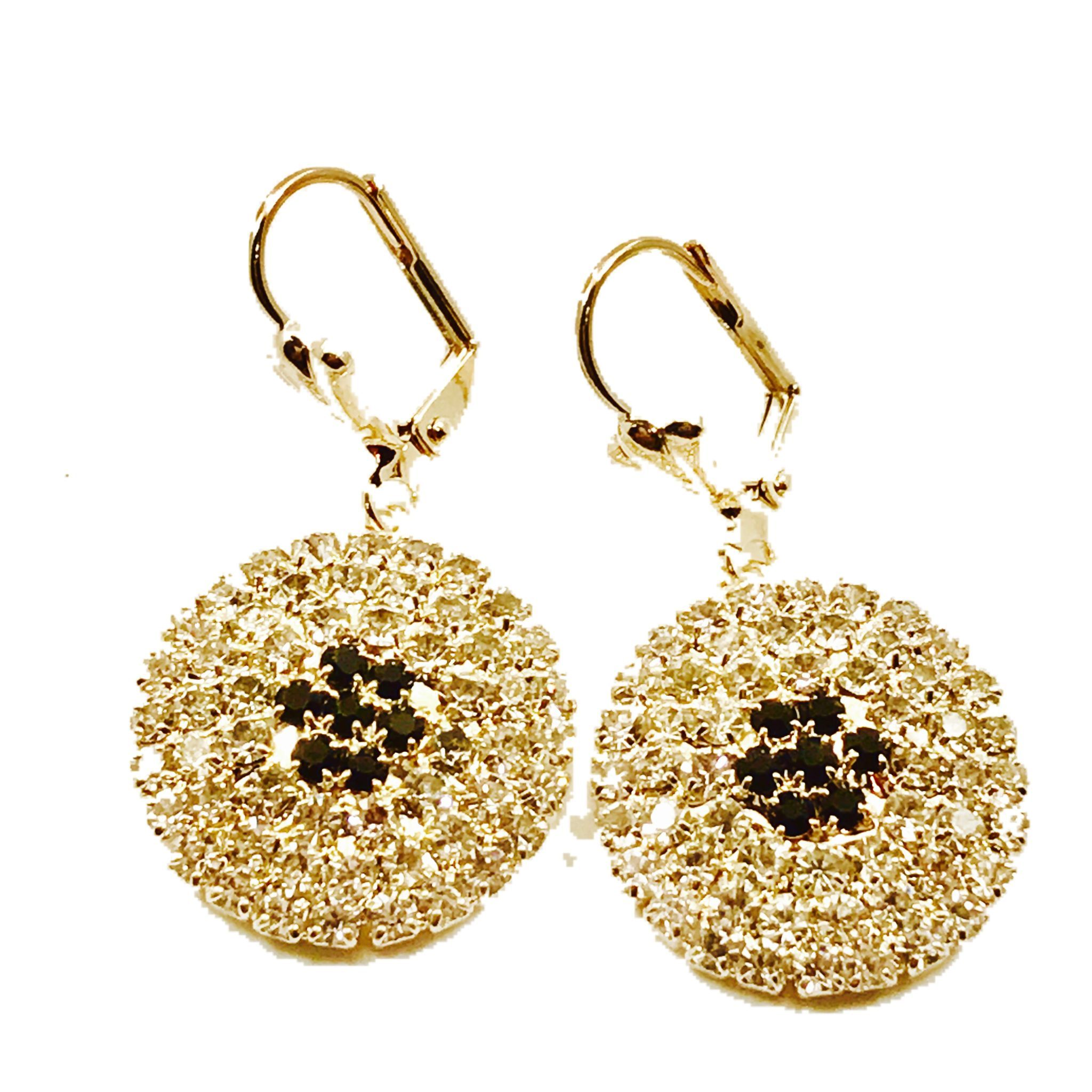 traditional home product peacock gold earrings plated earings