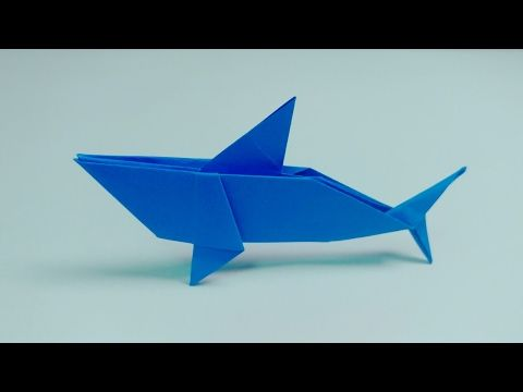 상어 종이접기 鲨鱼折纸 Shark Origami Yukihiko Matsuno Youtube