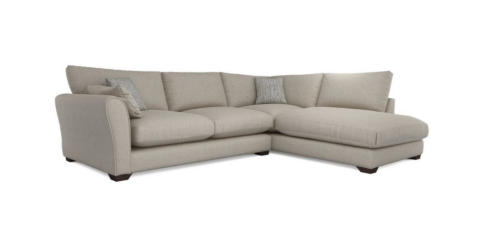 Anaya Formal Back Left Hand Facing Arm Large Corner Group Small Sofa Large Sofa Round Footstool