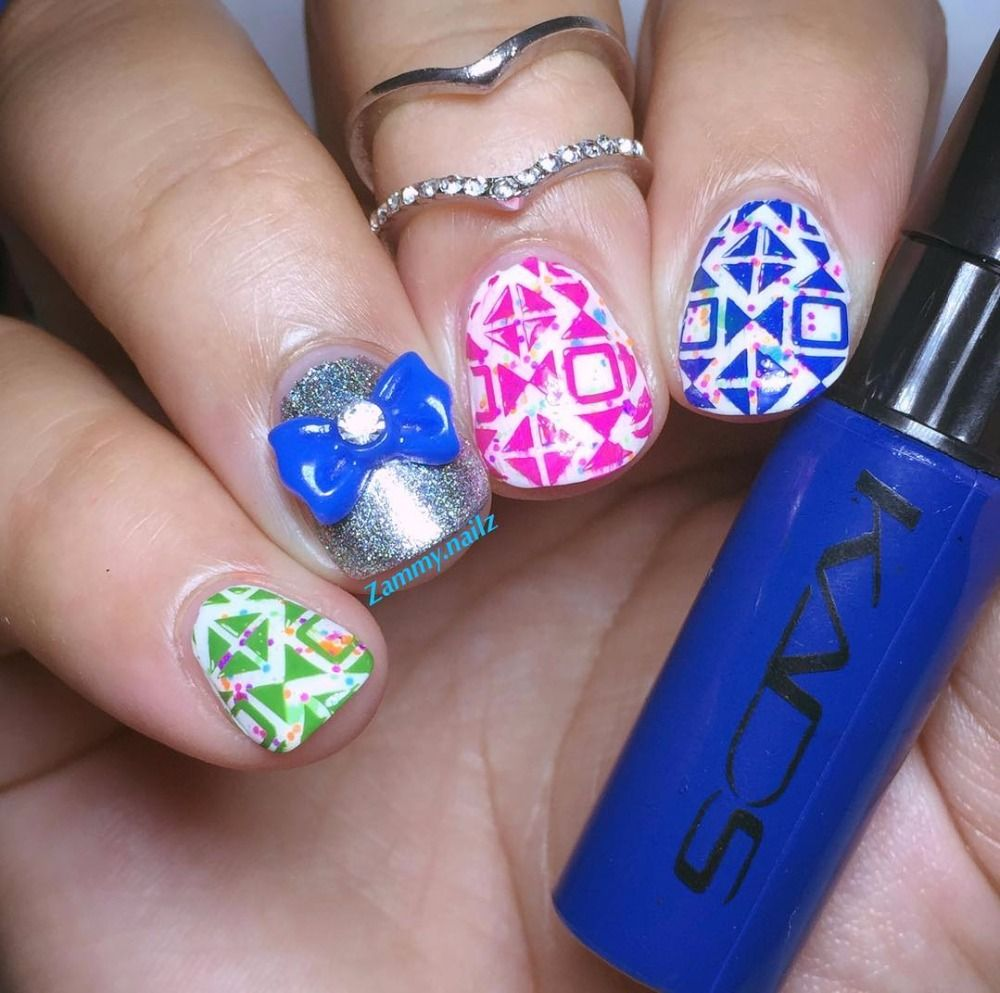 New Fashion 4pcsset Nail Art Stamping Polish Pretty Good Nail Art