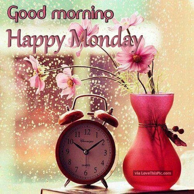 Rainy Good Morning Happy Monday Quote Monday Good Morning Monday