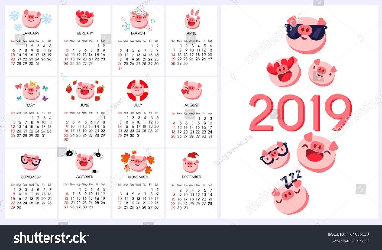 Chinese Calendar With Zodiac Signs In 2020 Happy Chinese New Year Chinese Calendar Pink Calendar