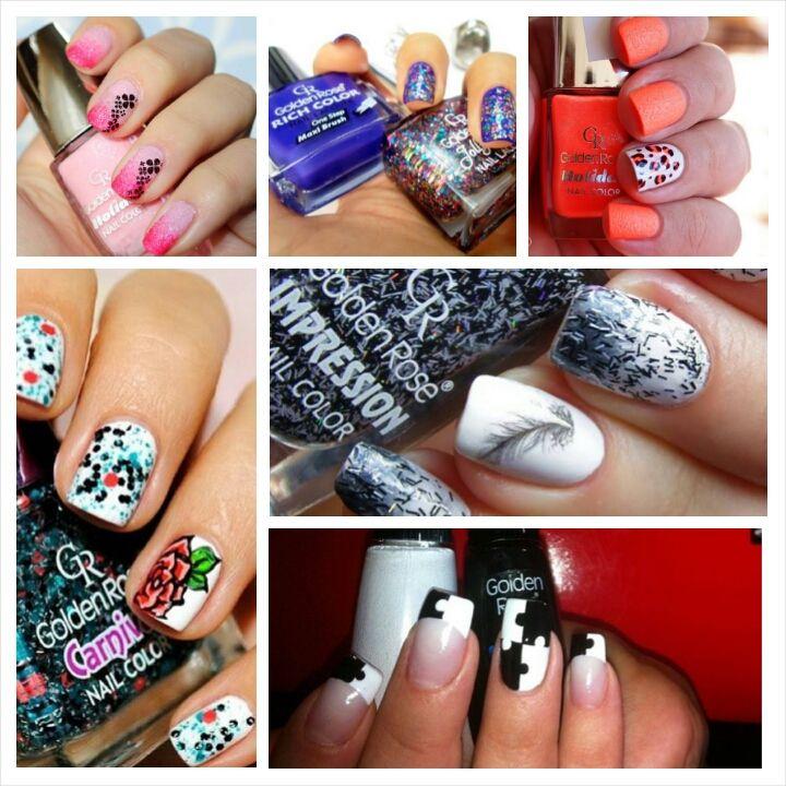 golden rose nail polish nail art