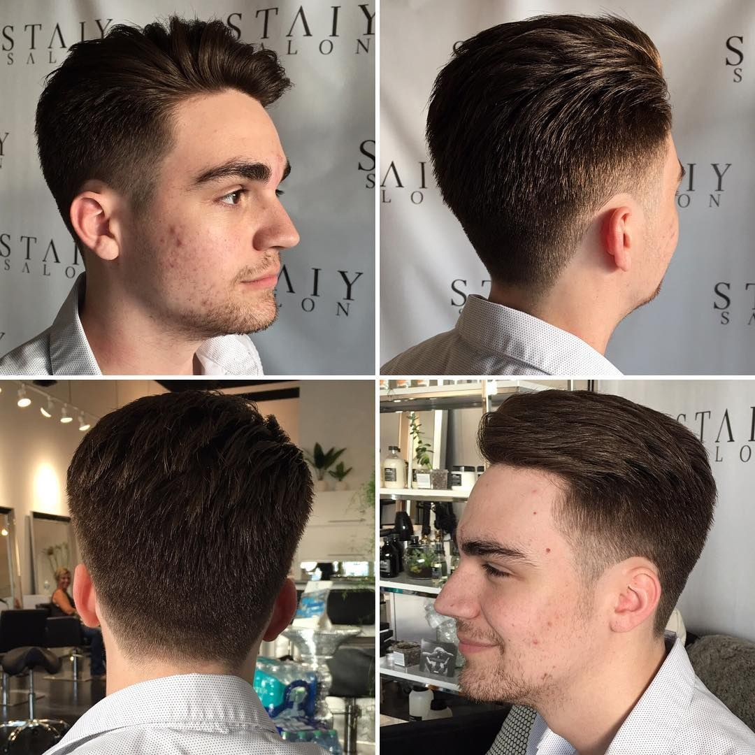 Mens Short Textured Quiff with Tapered Sides - The Latest