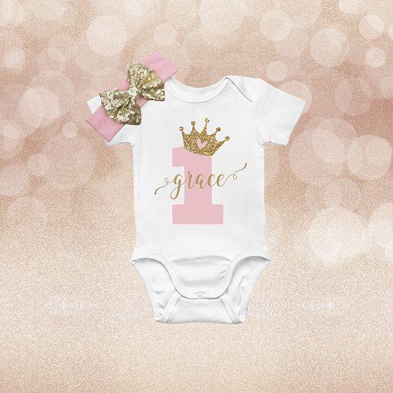 b2d10ff5c Wild One Onesie, Girl 1st Birthday Outfit, 1st Birthday Outfit Girl, First  Birthday