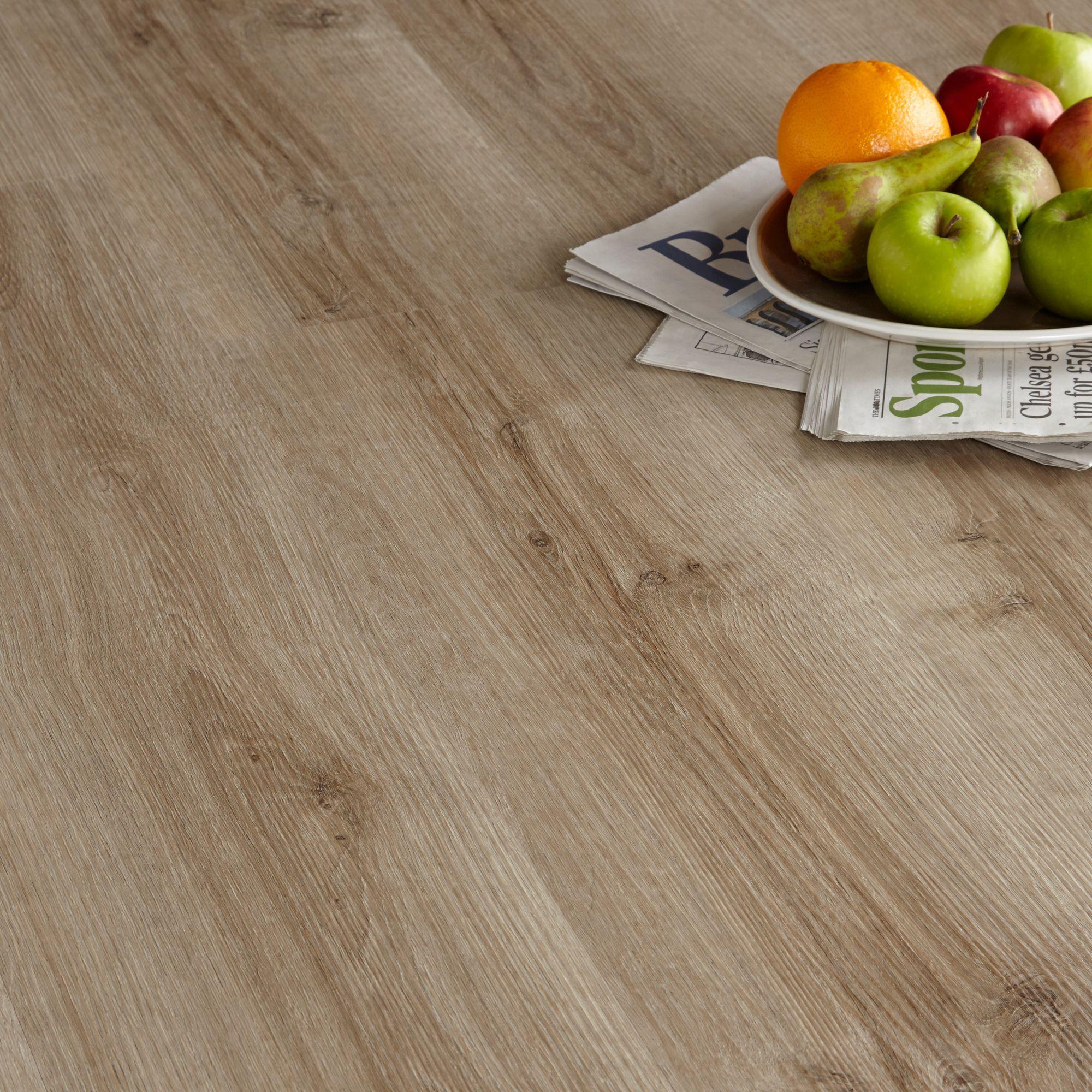 colours brown natural oak effect luxury vinyl click flooring 1 76 m