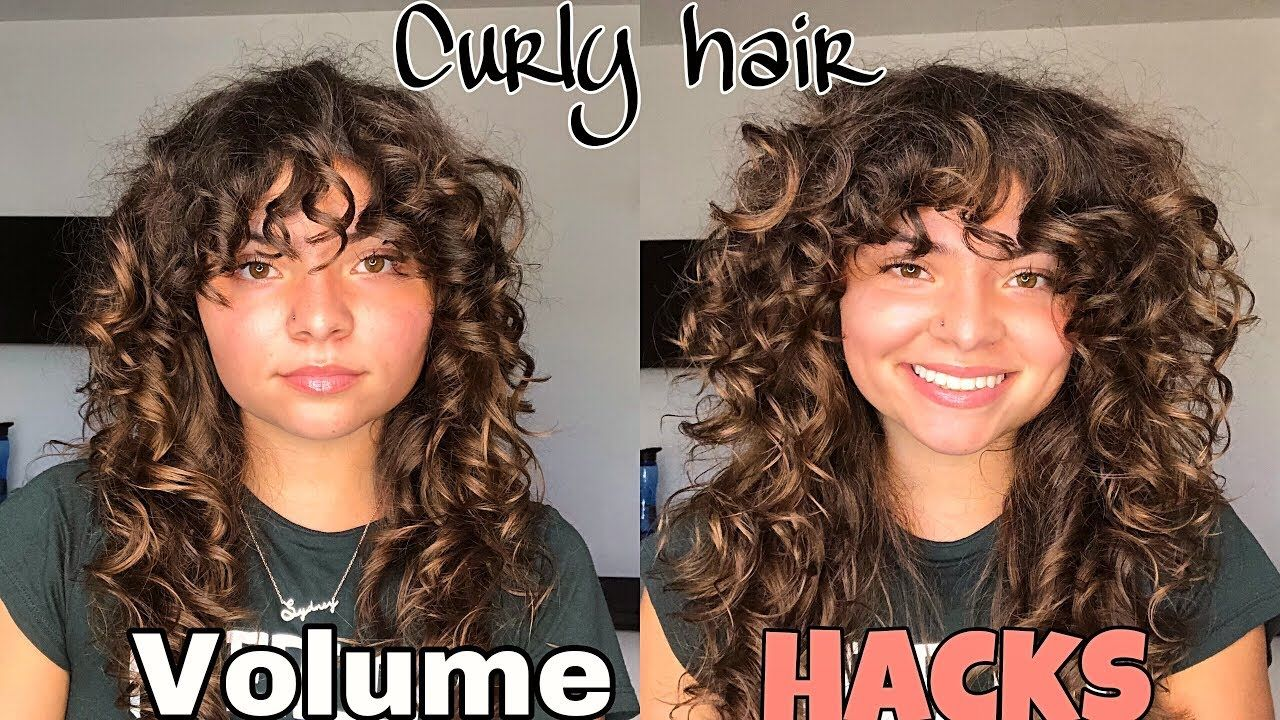 How To Get Volume In Curly Hair Without Frizz Youtube In 2020 Curly Hair Styles Dry Curly Hair Healthy Hair Oil