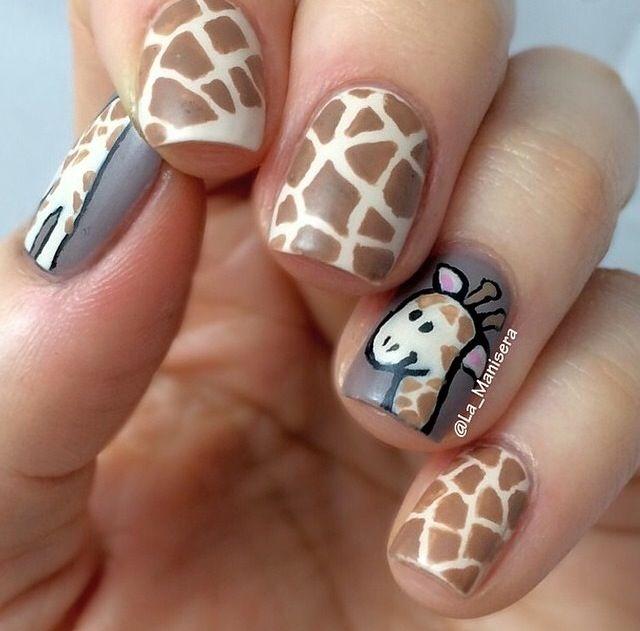 Giraffe Nails Nail Designs 3 Pinterest Giraffe Nails Giraffe